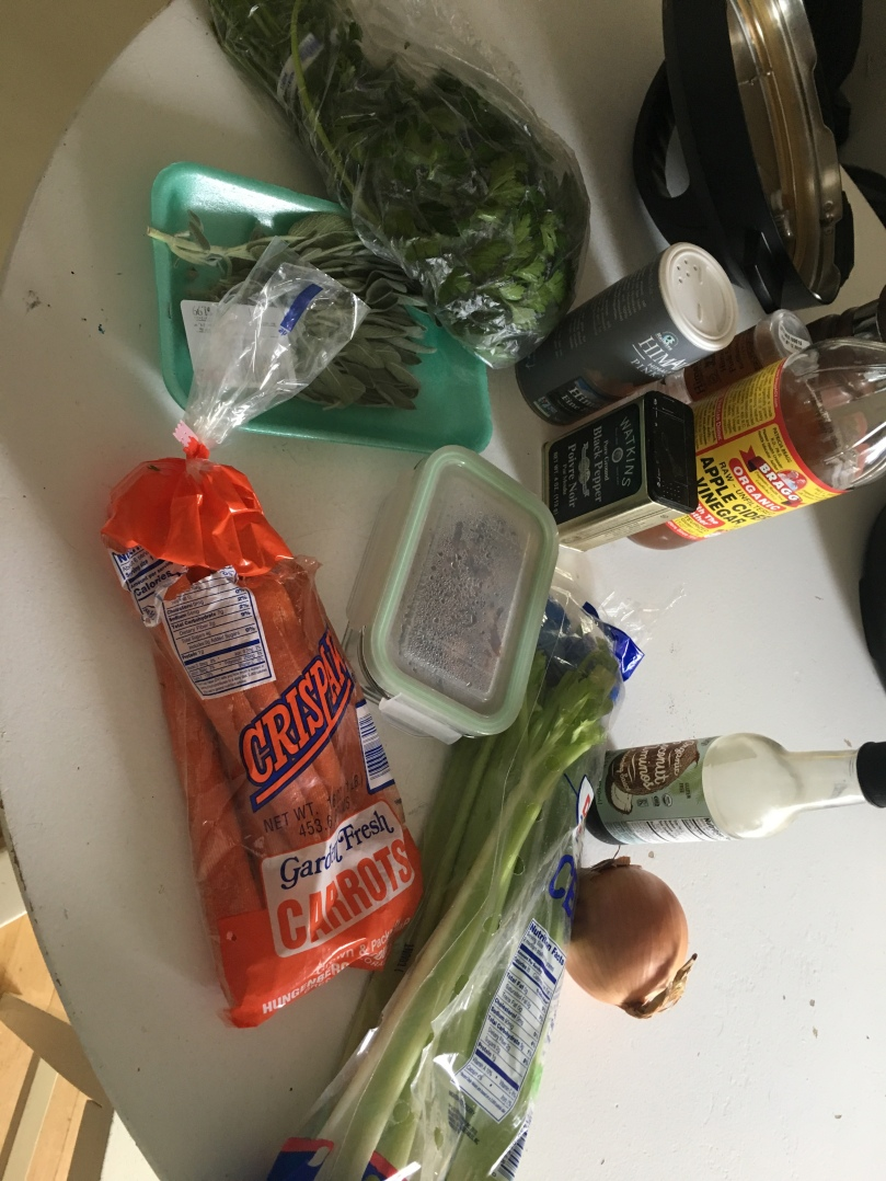 Turkey-bone broth ingredients