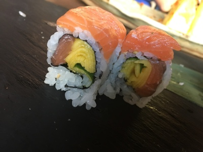 Golden roll from Okinawa Sushi (minus the sauce)
