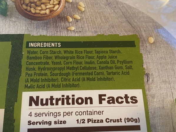 BFree Pizza Crust Ingredients